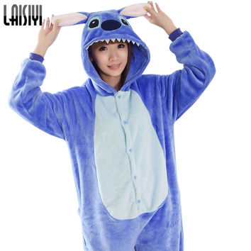 lilo and stitch Onesuit Unisex Onesuits Unisex Adult warm fleece pajamas for women pajama set warm animal pajamas one piece femme