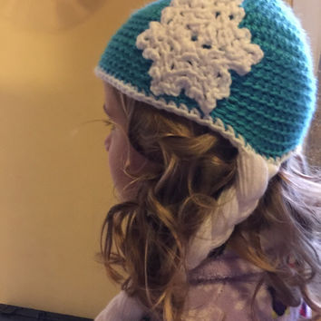 Snow Queen Elsa Hat/Frozen Princess Hat/Character Hats/Childrens Gifts/Elsa Crochet Hat/Holidays/Girls Gifts/Christmas Gifts/Gifts For Her