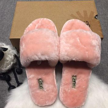 2018 Original UGG: wool in one word drag slippers