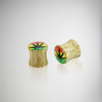 Wood Rasta Plug Set