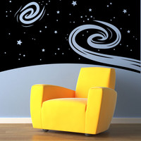 Vinyl Wall Decal Sticker Space Wall #OS_MB450