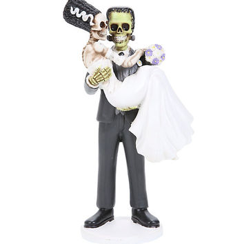 Frankenskull And Bride Figure