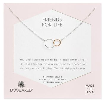 Friends for Life Necklace in Sterling Silver.