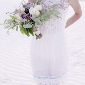 white lace great gatsby wedding gown