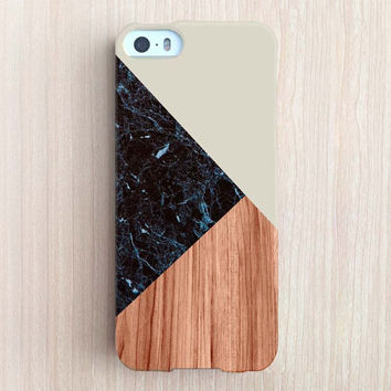 iPhone 6 Case, iPhone 6 Plus Case, iPhone 5S Case, iPhone 6, iPhone 5C Case, iPhone 4S Case, iPhone 4 Case - Black Marble Color Block Olive