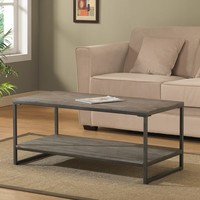 Elements Grey/Brown Coffee Table with Shelf | Overstock.com