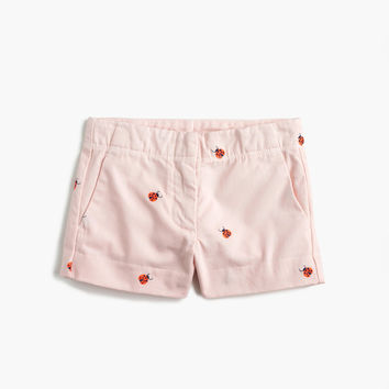 Girls' critter Frankie short in ladybugs : Girl frankie | J.Crew