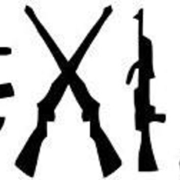 Coexist Gun  Logo Vinyl Sticker Decal Car Truck Windon Wall Laptop notebook