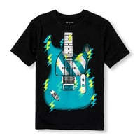 Boys Short Sleeve Electric Guitar Graphic Tee | The Children's Place
