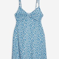 Ditsy Twist Front Mini Sun Dress | Topshop