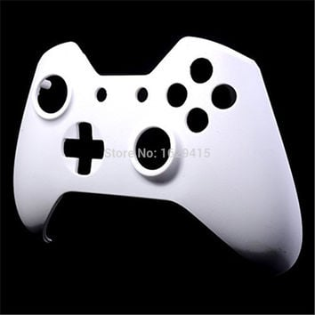 IVY QUEEN 1 PCS Matte Solid White Front Top Up Shell Case Faceplate for Microsoft Xbox One 1 Controller Wireless