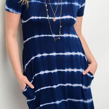 Navy Tie Dye Plus Dress – Gypsy Outfitters - Boho Luxe Boutique