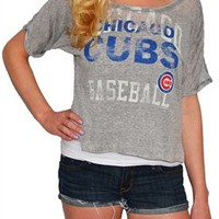 Chicago Cubs Cropped Tee | SportyThreads.com