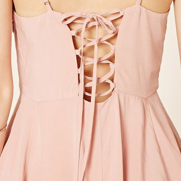 Lace-Up Babydoll Dress | Forever 21 - 2000205152