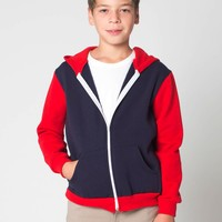 f297cb - Color Block Youth Flex Fleece Zip Hoodie