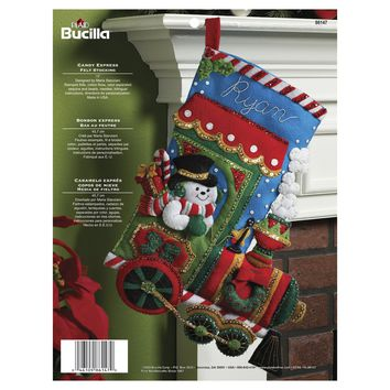 "Candy Express Bucilla Felt Stocking Applique Kit 18"" Long"