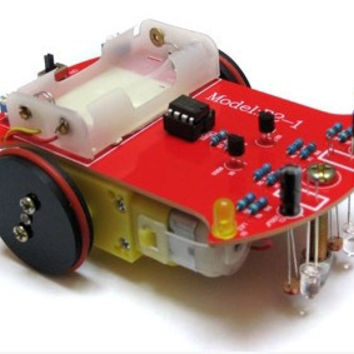 Intelligent tracking car kit D2-1 guard DIY exclusive design of electronic production line of car parts