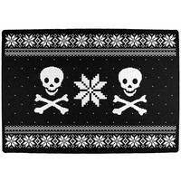 Skull & Crossbones Ugly Christmas Sweater All Over Indoor Mat
