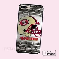 Helmet San Francisco 49ers NFL Metal chains Logo SF CASE iPhone 6,7,8,X, Samsung