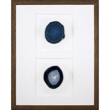 Blue Agate Slices Specimen Box