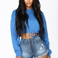 Crop It Like Its Hot Hoodie - Blue
