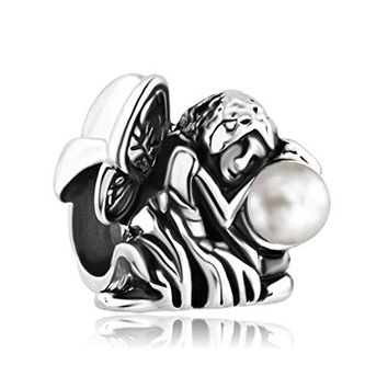 Angel Fairy Charms Freshwater Pearl Jewelry Sale Cheap Beads Fit Pandora Bracelets