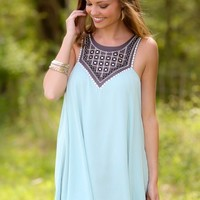 Seize The Day Dress-Mint