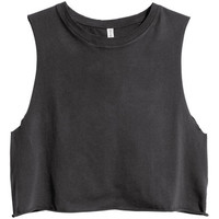 Cropped Tank Top - from H&M
