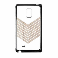 White Geometric Minimalist With Wood Grain Samsung Galaxy Note Edge Case