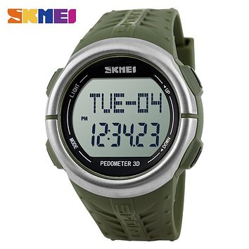 Sports Watches Men Big Dial Fashion Digital Wristwatches Electronic LED Alarm Clock Military Watch