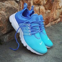 Best Online Sale Nike Air Presto Ultra BR Breathe Wmns Still Blue White Sport Shoes Running Shoes - 896277 400