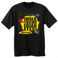 JuvenileDiabetesWalkStore.com |  2 Sided Black JDRF T-Shirt