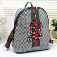 VONE05F Day First Gucci Women Leather Snake Pattern Shoulder Bag Daypack Backpack