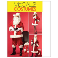 McCall's Patterns M5550 Misses'/Men's Santa Costumes and Bag, Size XM (SML-MED-LRG)