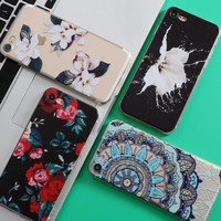 iPhone 5 5S SE 6 6S 7 Plus Case For Samsung Galaxy S4 S5 S6 S7 Edge S8 Plus J5 Grand Prime J3 A3 A5 2016 2017