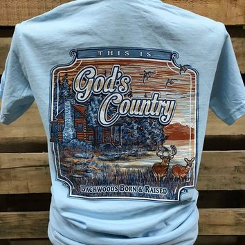 Backwoods Born & Raised God's Cabin Country Comfort Colors Bright Unisex T Shirt