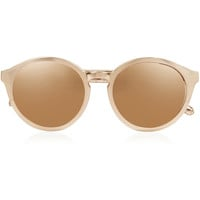 Linda Farrow - Round-frame gold-plated and elaphe sunglasses
