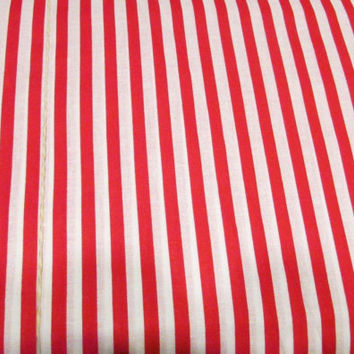 14-0802 Red and White Stripe Fabric / Circus Stripe Fabric / By The Yard Fabric / Candy Cane Stripe Fabric / Christmas Fabric / 1-4 Yards
