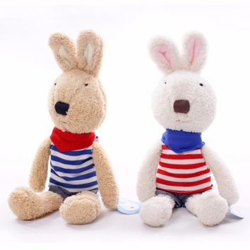 Soft Bunny With Different Clothes -Plush Stuffed Cuddly Animal Toy Gift For Kids Children Toddlers