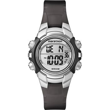 Timex Marathon Digital Mid-Size Watch - Black-Silver [T5K805]