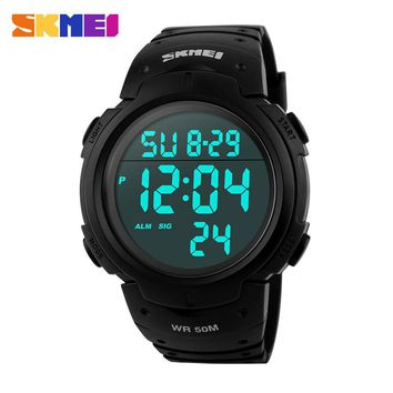 Fashion Skmei Brand Men Sports Watches Digital LED Military Watch Swim Alarm Outdoor Casual Wristwatches Hot Clock 2017 New 1068