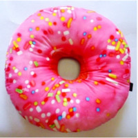 Pink Sprinkles Donut Autograph Pillow.  Comes with a Pen.