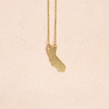 Carrie California Gold Necklace