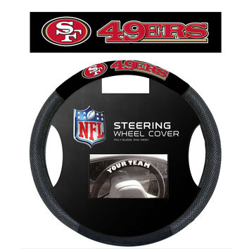 San Francisco 49Ers Poly-Suede Steering Wheel Cover