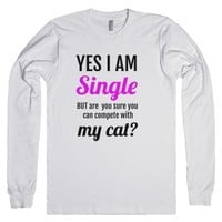 Single - Competition with the Cat-Unisex White T-Shirt
