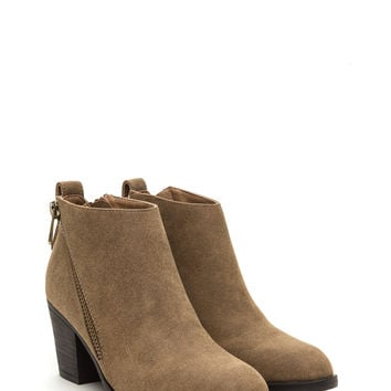 Zip Zip Hooray Faux Nubuck Booties