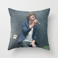 Harry Styles 1 Direction Throw Pillow by Karl Wilson Photography