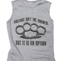 """Violence"" Women's Sleeveless T-Shirt"