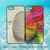 Left and Right Brain in Pairs for iphone 5 case, iphone 4 case, ipod 4, ipod 5, note 2, Samsung S3, Samsung galaxy S4, blackberry z10, q10