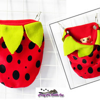 Sugar Glider and Rat Strawberry Cage pouch
